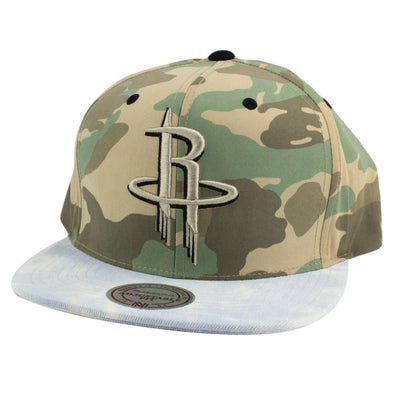 Mitchell and Ness Houston Rockets Distinguished American Camo/Acid Snapback