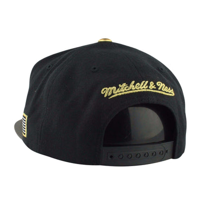 Mitchell and Ness Houston Rockets Gold Tip Black/Gray Snapback