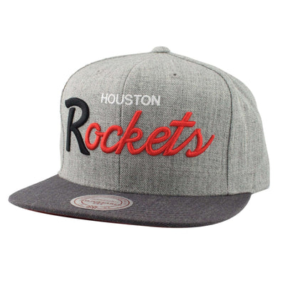Mitchell and Ness Houston Rockets Tri Pop Special Script Gray/Gray Snapback
