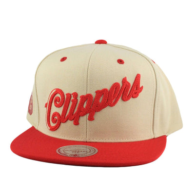 Mitchell and Ness Los Angeles Clippers Christmas Day Cream/Red Snapback