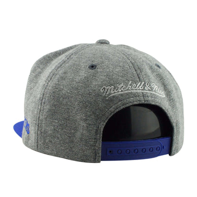 Mitchell and Ness Los Angeles Clippers HWC Fleece Clear Script Gray/Blue Snapback