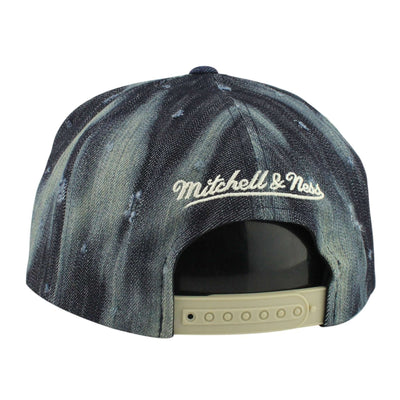 Mitchell and Ness Los Angeles Clippers Torn Denim Blue/Tan Snapback