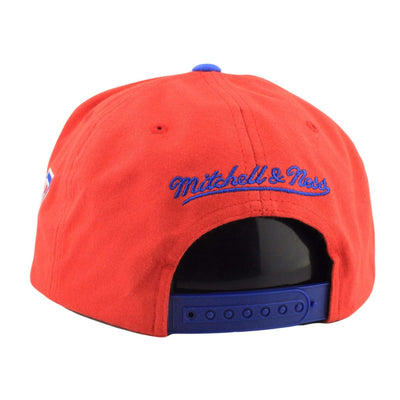 Mitchell and Ness Los Angeles Clippers Training Room Red/Blue Snapback