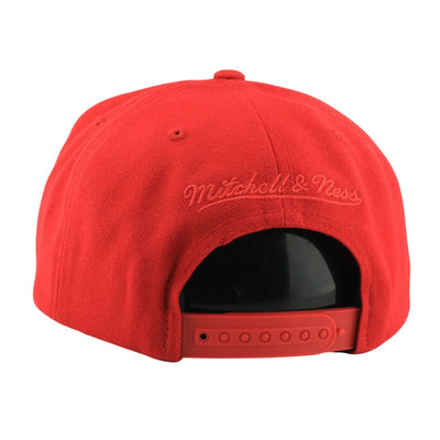 Mitchell and Ness Los Angeles Clippers Vice Script Solid Red/Red Snapback