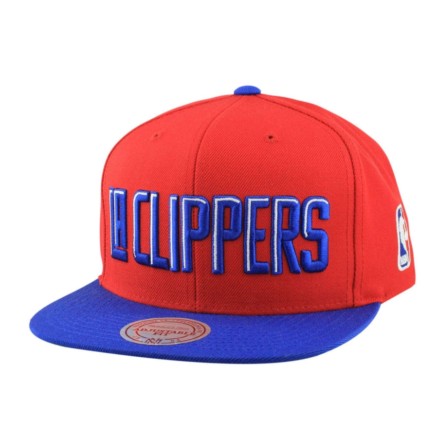 info for 7cfa7 3f5d8 Mitchell and Ness Los Angeles Clippers XL Logo Red Blue Snapback