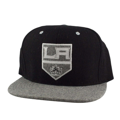 Mitchell and Ness Los Angeles Kings Heather Melton Visor Black/Gray Strapback