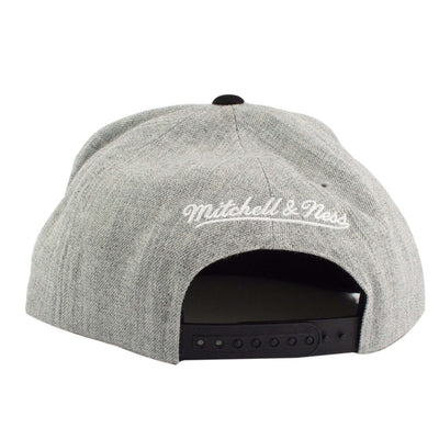 Mitchell and Ness Los Angeles Kings Heather Micro Current Gray/Black Snapback