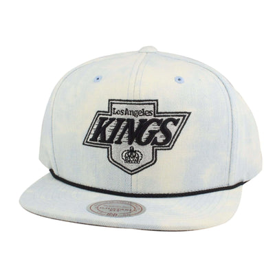 Mitchell and Ness Los Angeles Kings Light Acid Wash Blue/Blue Snapback