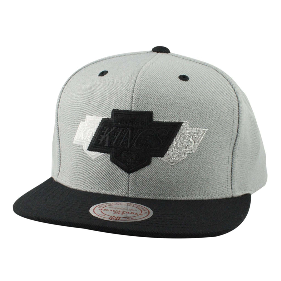 b3bac018d1a Mitchell and Ness Los Angeles Kings Triple Color Stack Gray Black Snapback