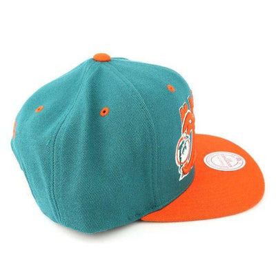 Mitchell and Ness Miami Dolphins Tail Sweep Green/Orange Snapback