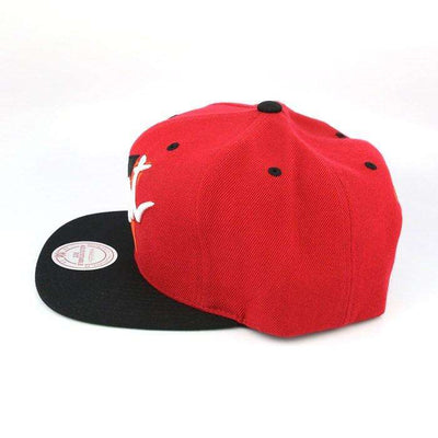 Mitchell and Ness Miami Heat HWC Triangle Script Red/Black Snapback