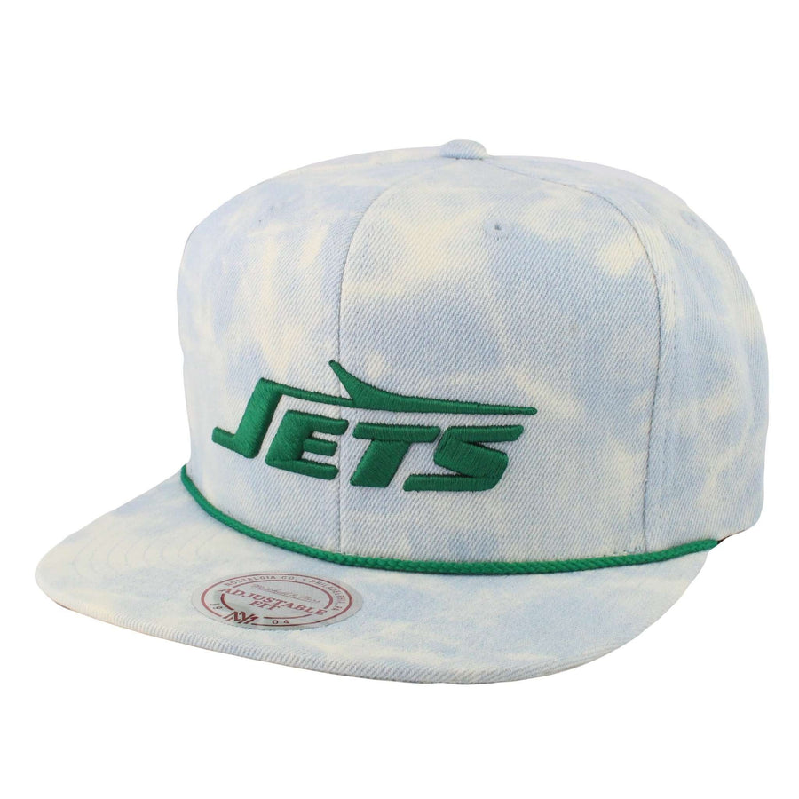 Mitchell and Ness New York Jets Light Acid Wash Assorted Assorted Snapback 2b39760f4a7c