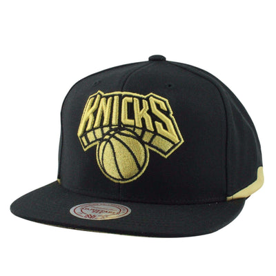 Mitchell and Ness New York Knicks Structured Black/Black Snapback