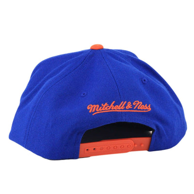 Mitchell and Ness New York Knicks XL Ball Logo Blue/Orange Snapback