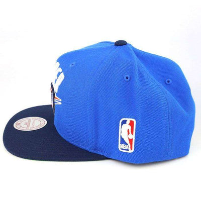 Mitchell and Ness Oklahoma City Thunder Logo Light Blue/Blue Snapback