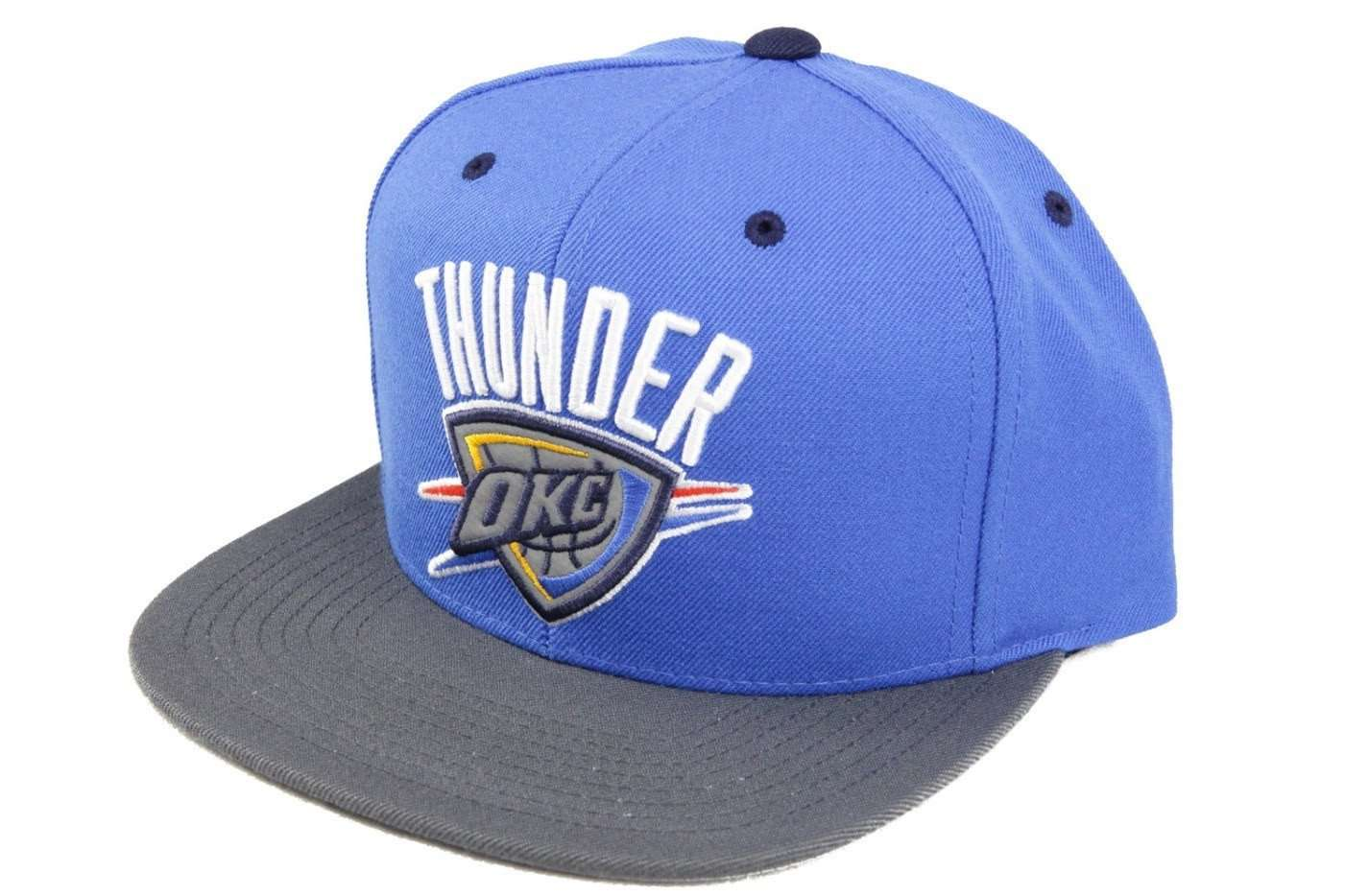 san francisco dc4b7 5c9a1 Mitchell and Ness Oklahoma City Thunder XL Logo 3M XL Logo Blue Gray  Snapback