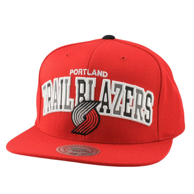 Mitchell and Ness Portland Trail Blazers Reflective Tri Pop Red/Red Snapback