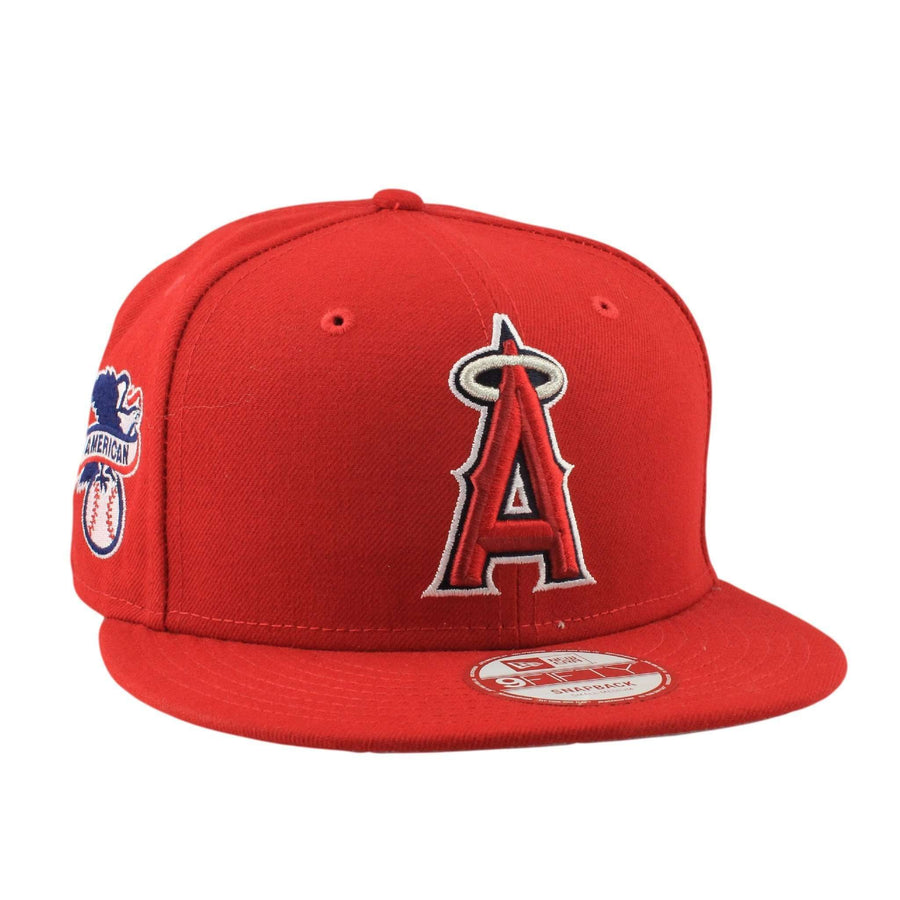 3439eb816a221 New Era Anaheim Angels Baycik Red Red Snapback