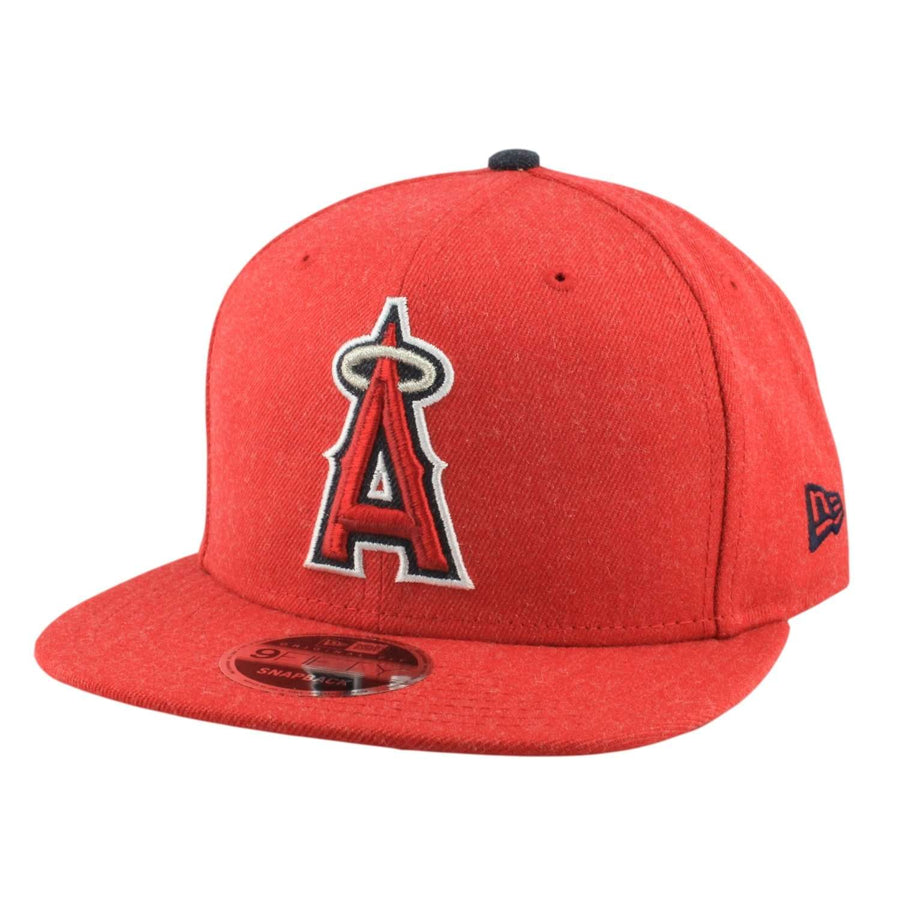 1ee0490b23165 New Era Anaheim Angels Heather Hype Red Red Snapback