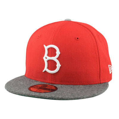 New Era Brooklyn Dodgers Logo Wool Red/Gray Fitted