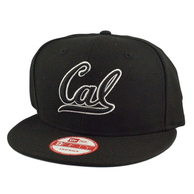 New Era California Golden Bears Script Black/Black Snapback