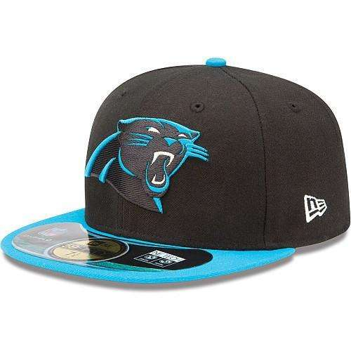 New Era Carolina Panthers On Field Black Blue Fitted a5c714060