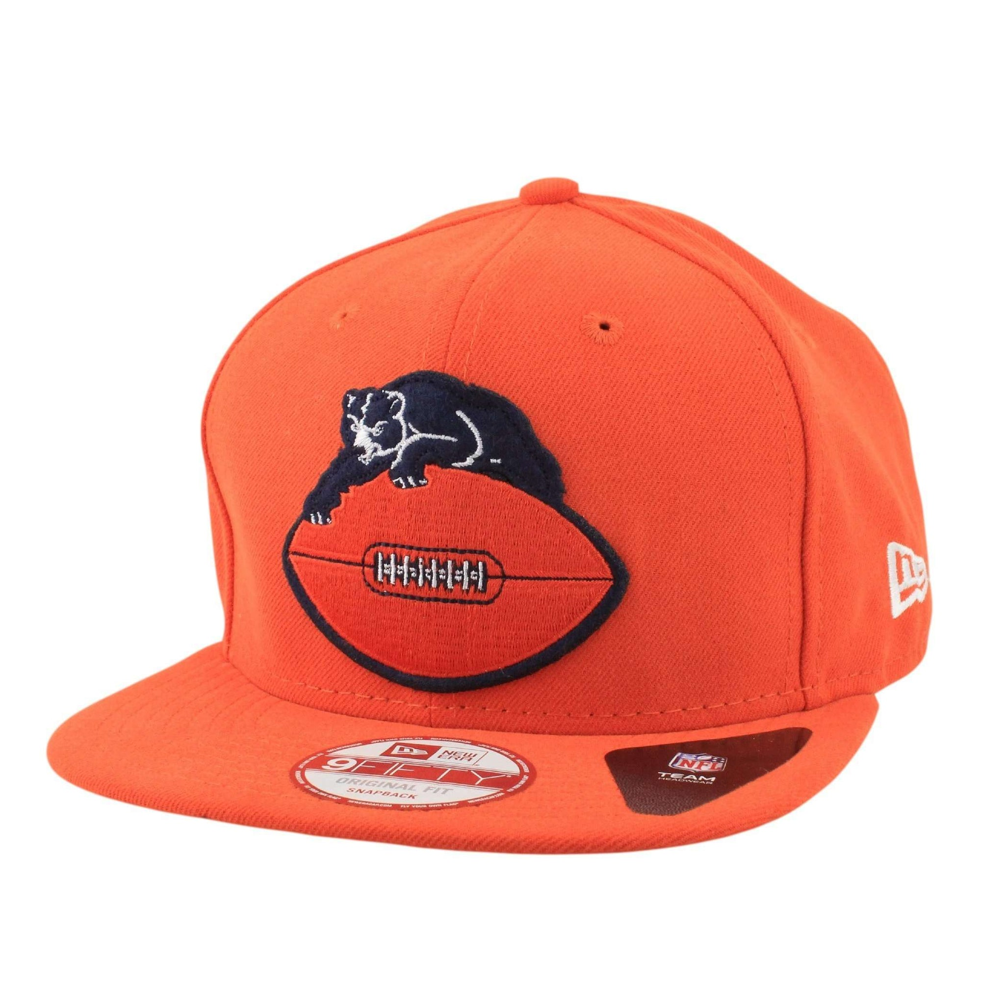 New Era Chicago Bears Retro Logo 46-73 Orange Orange Snapback 17c0fc7b2045