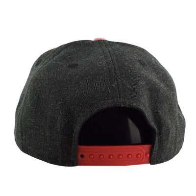 New Era Chicago Blackhawks Heather Action Black/Red Snapback