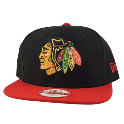 New Era Chicago Blackhawks Original Basic 2Tone Black/Red Snapback
