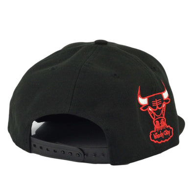 New Era Chicago Bulls Metpop Black/Black Snapback