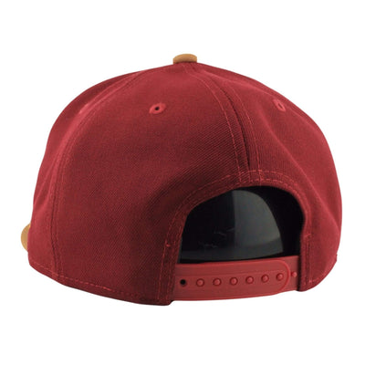 New Era Cleveland Cavaliers Leather Patcher Maroon/Brown Snapback