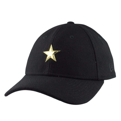 New Era Dallas Cowboys Badge Slick wool Black/Black Slouch Strapback