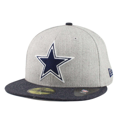 New Era Dallas Cowboys Heather Crisp 2 Gray/Navy Fitted