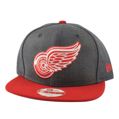 New Era Detroit Red Wings Heather Graphite Gray/Red Snapback