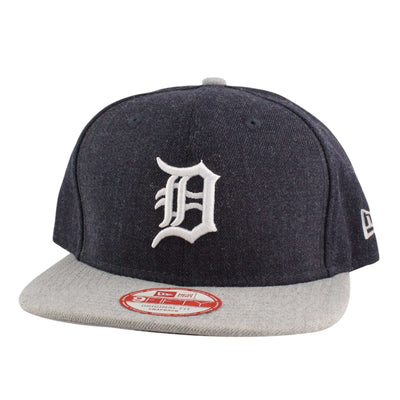 New Era Detroit Tigers Heather Action Blue/Gray Snapback