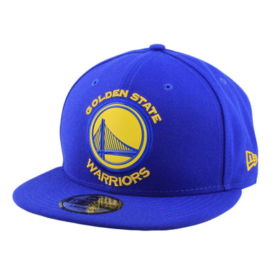New Era Golden State Warriors Bridge Bold Bevel Blue/Blue Snapback