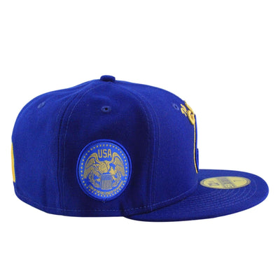 New Era Golden State Warriors Finest Blue/Blue Fitted