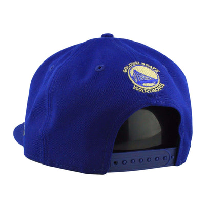 New Era Golden State Warriors Gold Metal Badge Blue/Blue Snapback