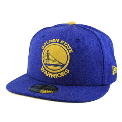 New Era Golden State Warriors Heather Hype Fit Blue/Blue Fitted