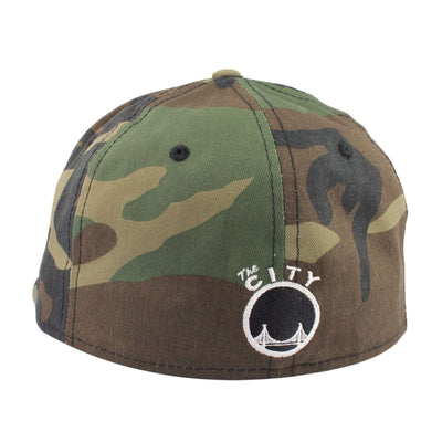 New Era Golden State Warriors Logo Camo/Camo Fitted