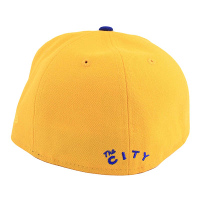 New Era Golden State Warriors The City Logo Yellow/Blue Fitted