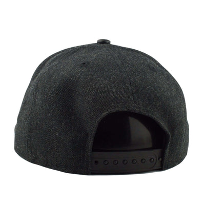 New Era Green Bay Packers Leather Match 56-69 Black/Black Snapback