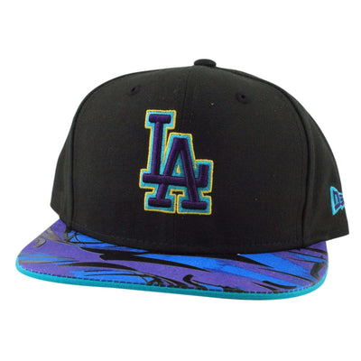 New Era Los Angeles Dodgers Aqua Hook Vize Black/Assorted Snapback