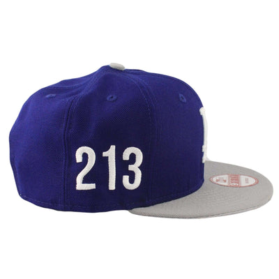 New Era Los Angeles Dodgers Area Code Side Blue/Gray Snapback