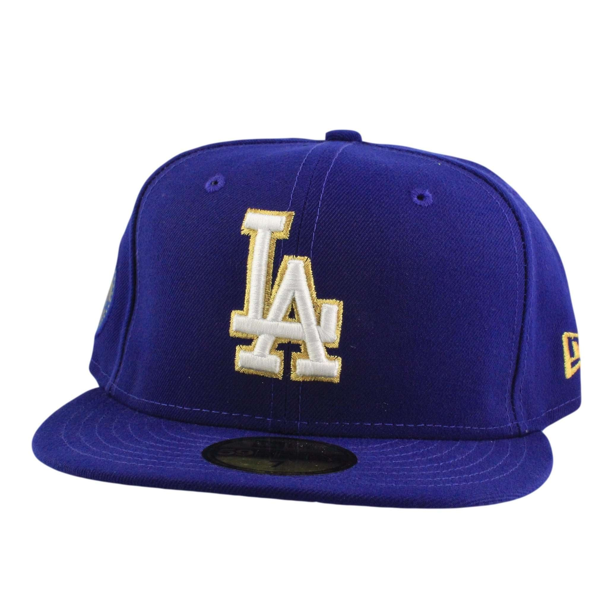 27c42802a06 Los Angeles Dodgers Finest Blue Blue Fitted