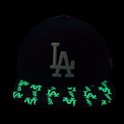 New Era Los Angeles Dodgers Glowing Vize Blue/Black Snapback