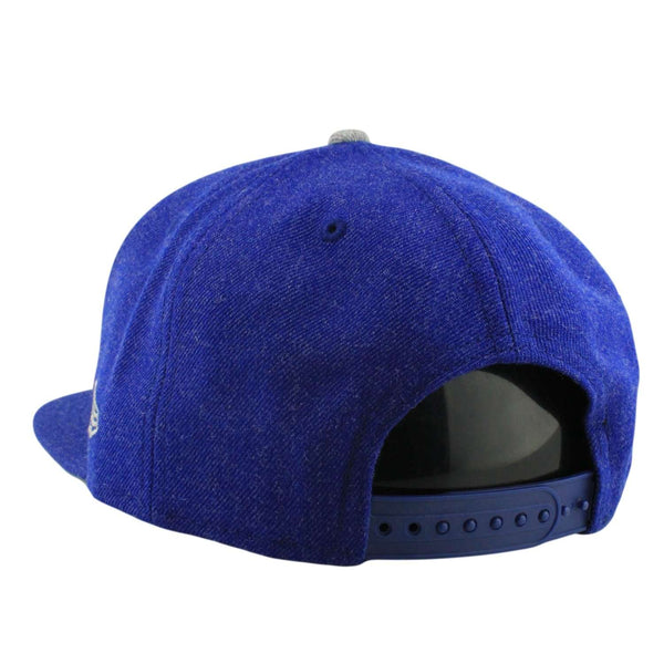 brand new 70d2f 89986 Los Angeles Dodgers Heather Hype Blue Blue Snapback   New Era   Bespoke Cut  and Sew