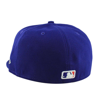 New Era Los Angeles Dodgers Leather Pop Blue/Blue Fitted