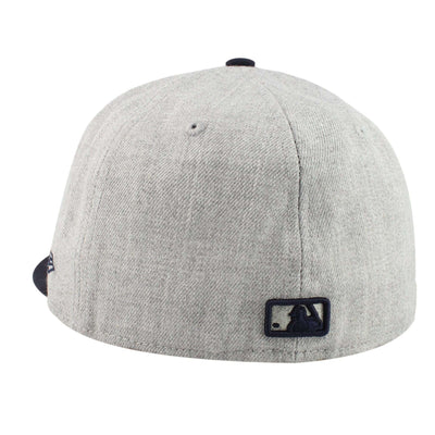 New Era Los Angeles Dodgers Logo Heather Gray/Navy Fitted