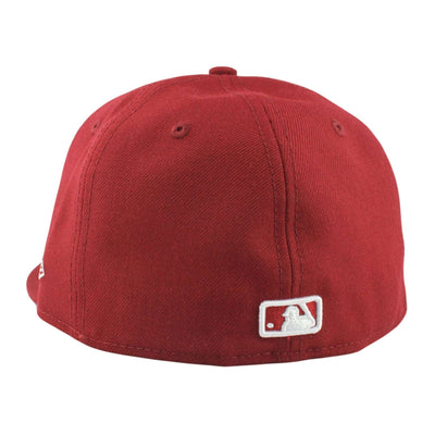 New Era Los Angeles Dodgers Logo Maroon/Maroon Fitted